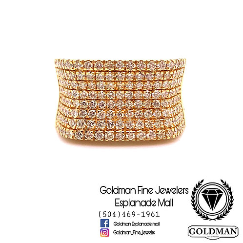 10K YELLOW GOLD 1.89CT DIAMOND MENS RING ON SALE