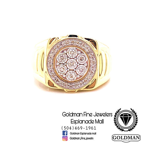 10K YELLOW GOLD 0.50CT DIAMOND MENS RING ON SALE