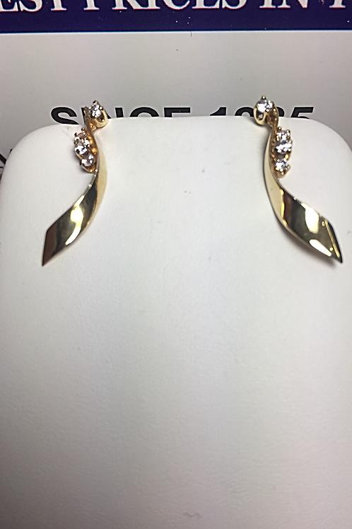 14k YG 0.30ct Ladies Diamonds Earings # 101732.   Online Offer Only