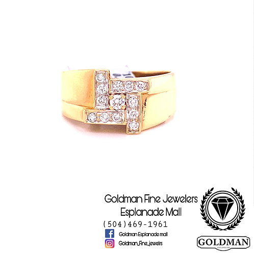 10K YELLOW GOLD 0.75CT DIAMOND MENS RING ON SALE