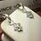 Thumbnail: 10k WG 0.20ct Diamonds Fleur-di-lis Ladies Earrings.#302750. Online Offer Only.