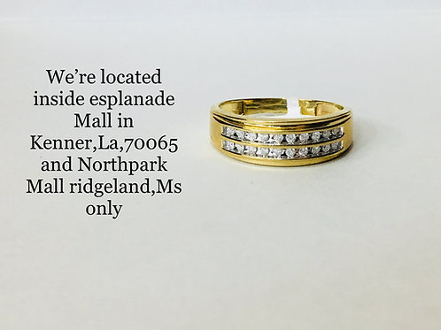 10K YELLOW GOLD WITH 0.25CT DIAMOND MALE RING