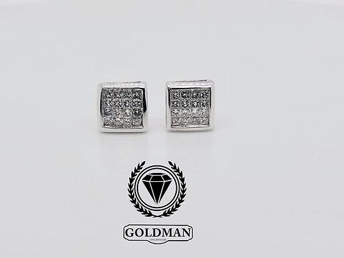 14K WHITE GOLD 0.50CT DIAMOND STUDS