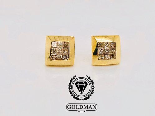 10K YELLOW GOLD 0.15CT DIAMOND STUDS