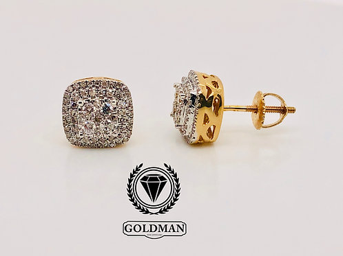 14K YELLOW GOLD 0.50CT DIAMOND STUDS