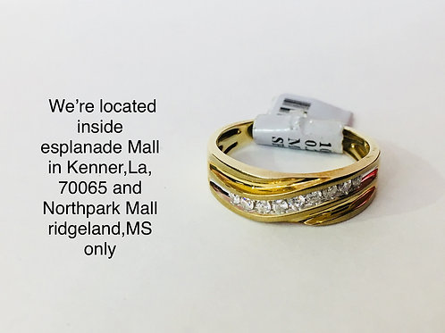 10K YELLOW GOLD WITH 0.25CT DIAMOND MALE BAND