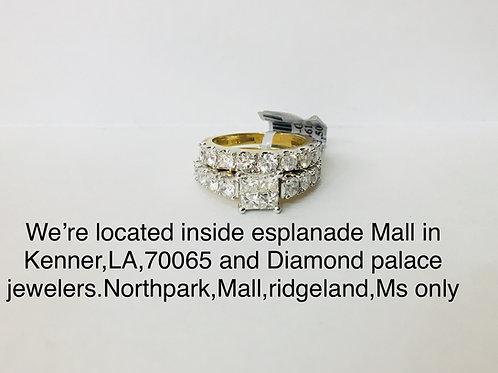 14K Yellow Gold 3.03CT Diamond female bridal set