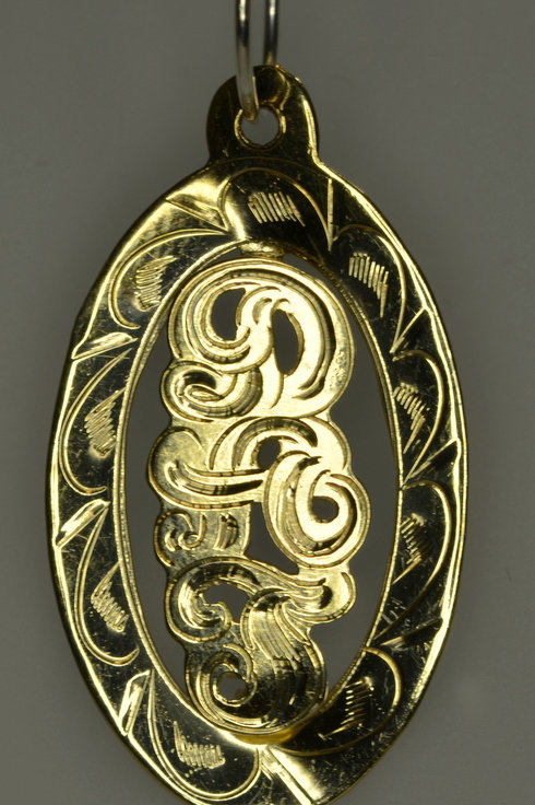 GOLD OVAL RAISED NAME PLATE WITH FREE BOX CHAIN