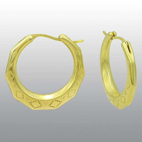 10K SOLID GOLD 5C SIZE NEW ORLEANS HOOPS