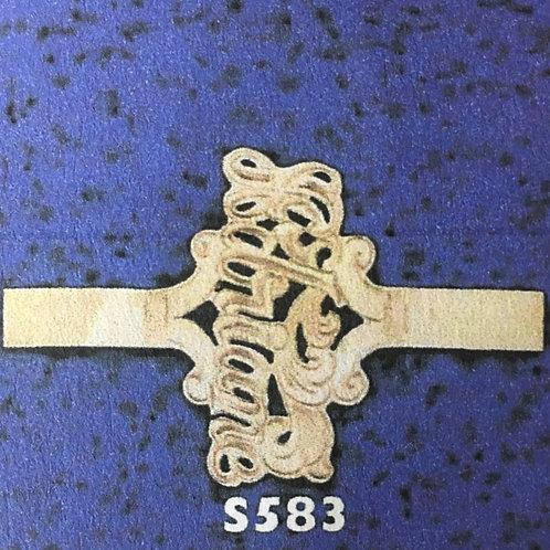 10k gold 1 name monogram ring