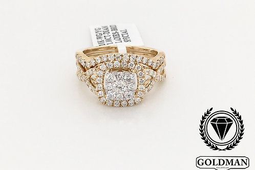 10K YELLOW GOLD 1.00CT DIAMOND BRIDAL SET