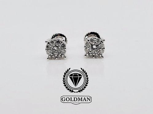 10K WHITE GOLD 0.80CT DIAMOND STUDS