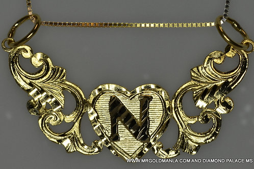 GOLD HAND MADE NAME PLATE WITH FREE BOX CHAIN
