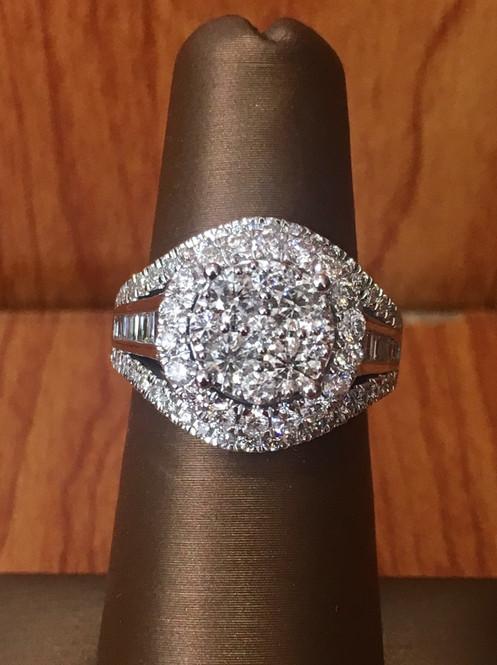 Wedding Ring On Sale.10k White Gold 2 00 Ct Diamond Ring On Sale Sku 305163