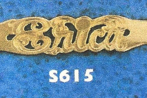10K Gold name across monogram