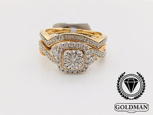 10K YELLOW GOLD 0.33CT DIAMOND BRIDAL SET ON SALE