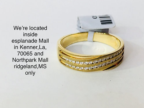 14K YELLOW GOLD WITH 0.25CT DIAMOND MALE BAND