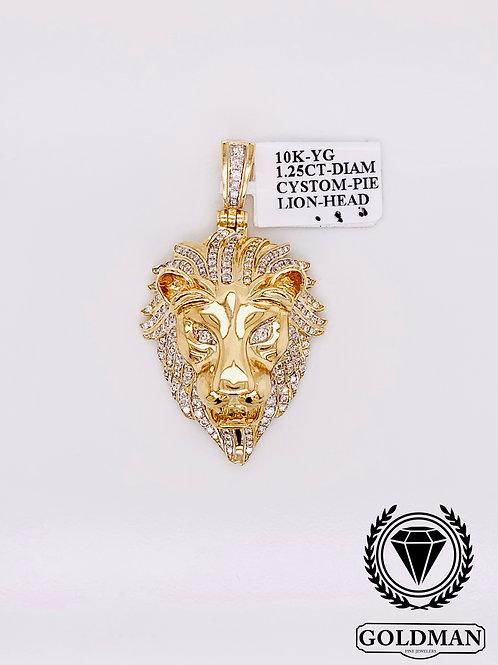 10K YELLOW GOLD 1.25CT DIAMOND MENS CHARM