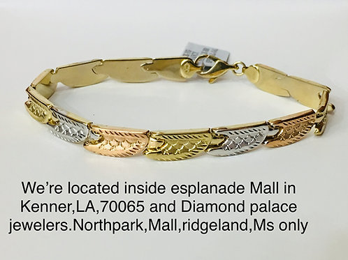 10k yellow gold female bracelet