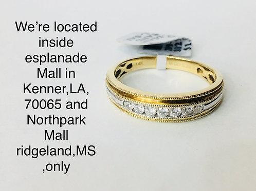 14K YELLOW GOLD 0.25CT DIAMOND MALE BAND