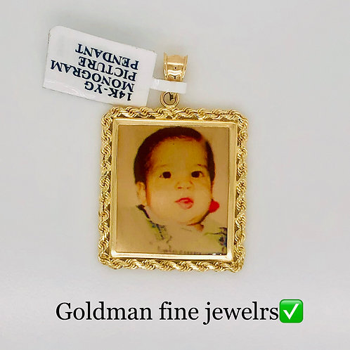 14K YELLOW GOLD PICTURE PENDANT