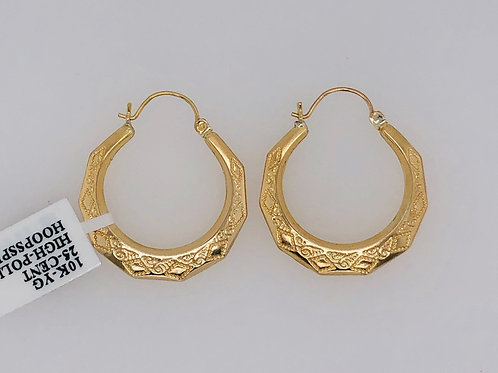 10K GOLD 25C SIZE NEW ORLEANS HOOPS