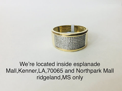 10K YELLOW GOLD WITH 0.21CT DIAMOND MALE BAND