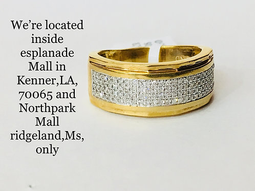 10K YELLOW GOLD 0.20CT DIAMOND MALE BAND