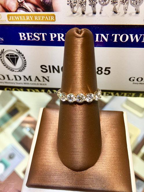14K YG 1.0ct. Diamonds Ladies Ring (Online price only)