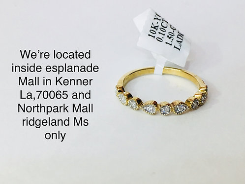 10K YELLOW GOLD WITH 0.10 CT DIAMOND FEMALE BAND