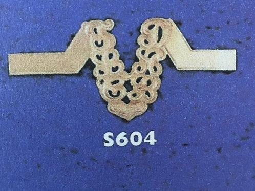 10k Gold wishbone 6 initials monogram ring