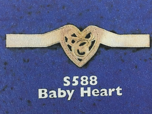 10k Gold baby heart wrap around monogram ring