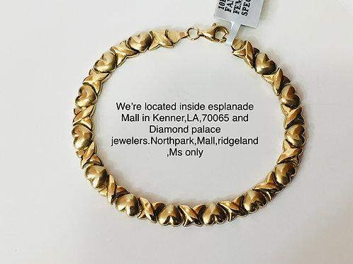 10k yellow gold ladies bracelet
