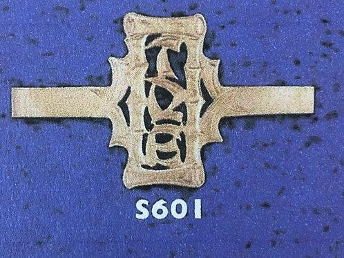 10K Gold Bamboo 1 to 3 initials monogram ring