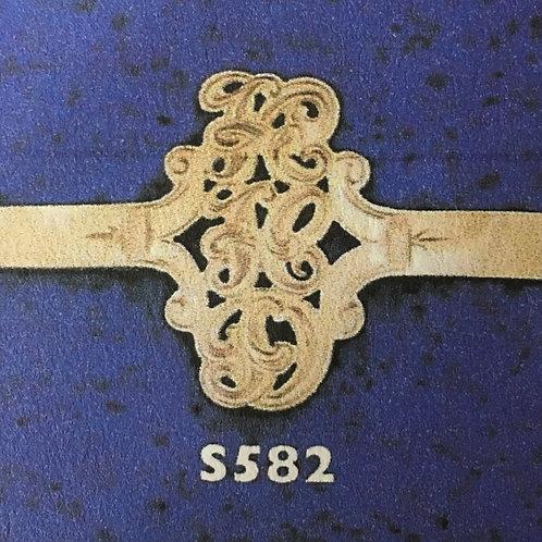 10k Gold Drop to 3 initials monogram ring
