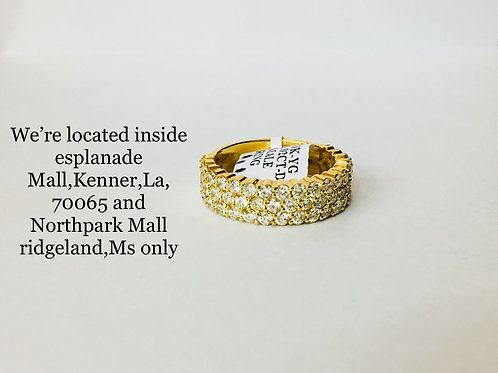 10K YELLOW GOLD WITH 3.02CT DIAMOND BAND