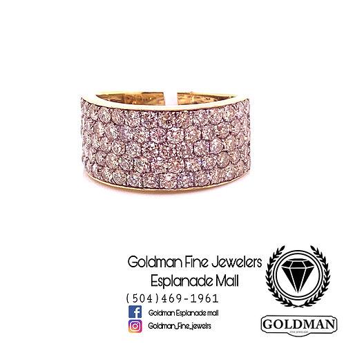 10K YELLOW GOLD 3.25CT DIAMOND MENS RING ON SALE