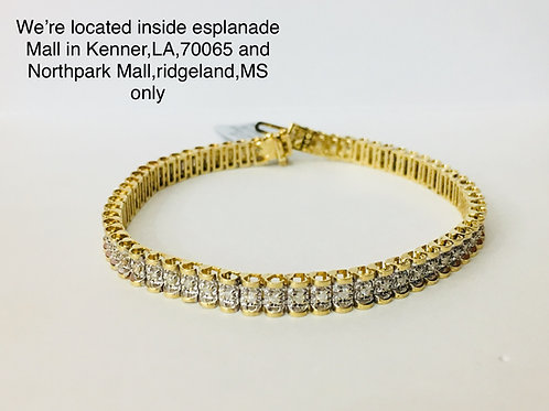 14K YELLOW GOLD 1.00CT DIAMOND FEMALE BRACELET