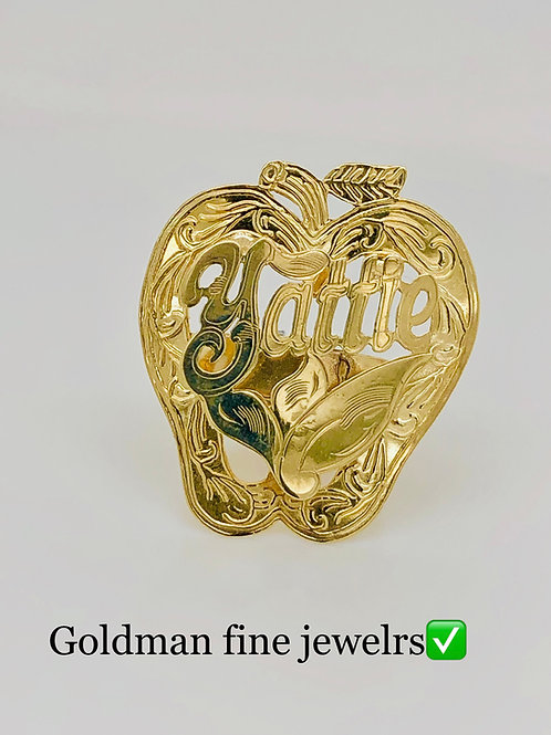 GOLD APPLE RING 50C SIZE