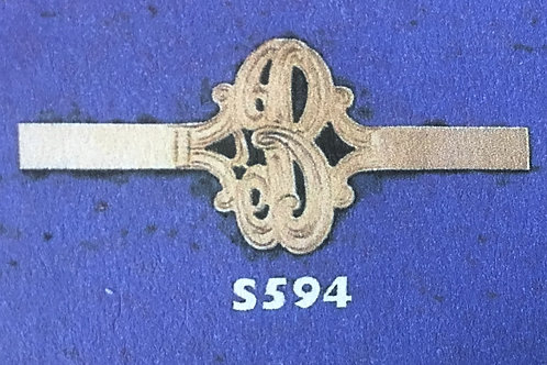 10K gold 1 initial monogram ring