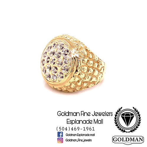 10K YELLOW GOLD 0.30CT DIAMOND MENS RING ON SALE