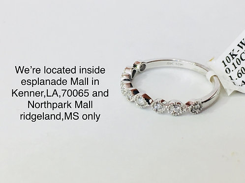 10K WHITE GOLD WITH 0.10CT DIAMOND FEMALE BAND