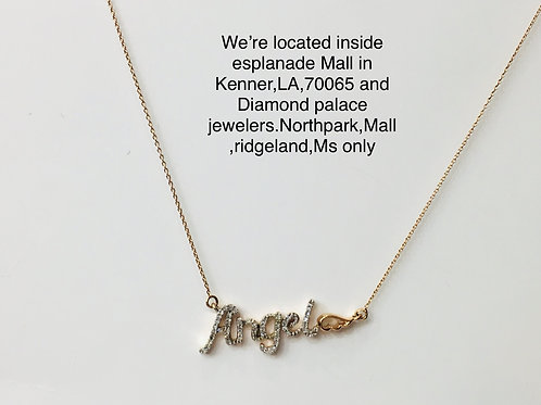 10k rose gold 0.15ct diamond female pendant
