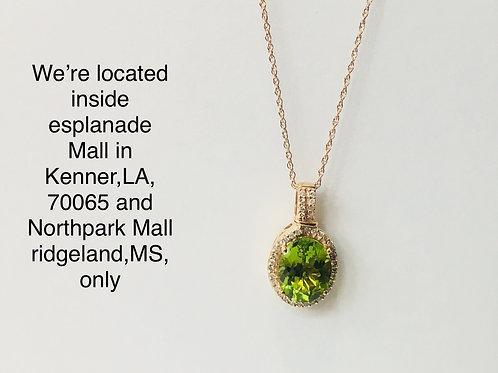 14K ROSE GOLD 0.17CT DIAMOND LADIES PENDANT WITH CHAIN