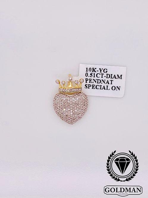 10K YELLOW GOLD 0.51CT DIAMOND MENS CHARM ON SALE