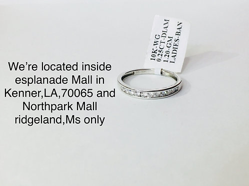 10K WHITE GOLD WITH 0.25CT DIAMOND FEMALE BAND