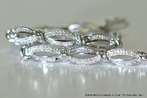 10K WHITE GOLD 2.00 CT LADIES DIAMOND BRACELT