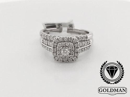 10K WHITE GOLD 0.50CT DIAMOND BRIDAL SET
