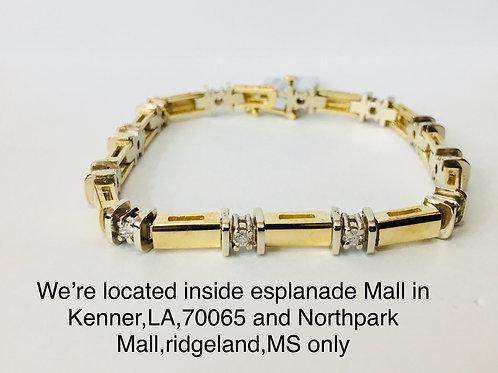 14K YELLOW GOLD 2.25CT DIAMOND FEMALE BRACELET