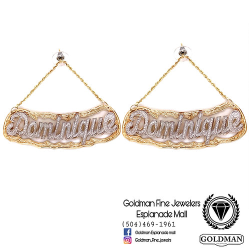 10K GOLD 5062-R-MOON-RBW ROPE EARRINGS